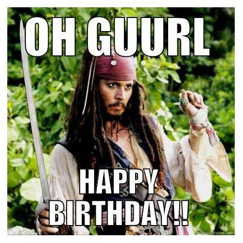 Captain Jack Sparrow Wishes you Happy Birthday