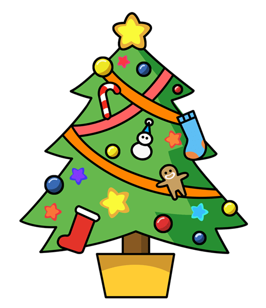 Christmas Tree Clip Art 1